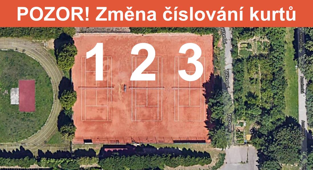 Tenisové kurty Brno Arménská - půdorys